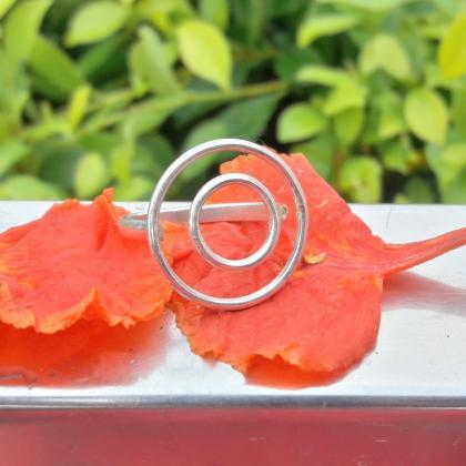 Hollow Circle Ring, Double Circle R..