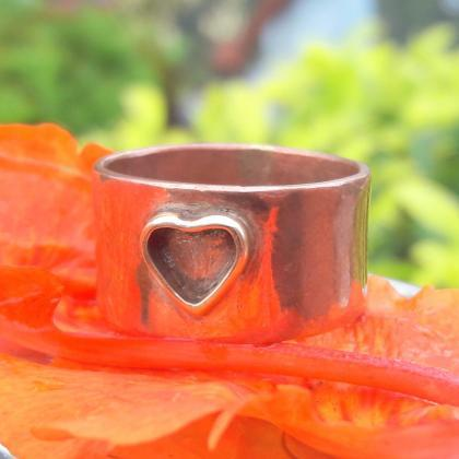 Small Heart Band, 925 Sterling Silv..
