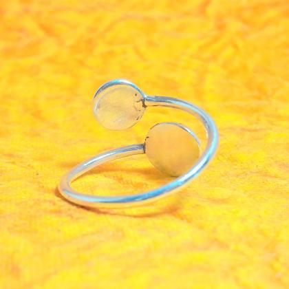 Semi-Sphere Ring, Sterling Silver B..