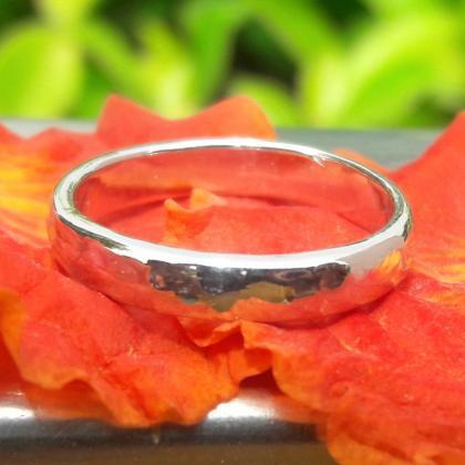 Hammered Ring, 925 Sterling Silver ..