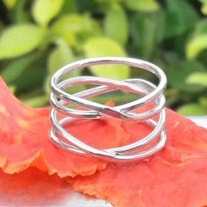 Cage Style Ring, Boho Jewelry, Hand..
