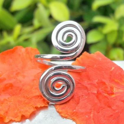 Double Coils Ring, Swing Jewelry, S..