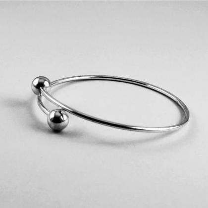 Double Ball Ring, Minimalist Jewelr..