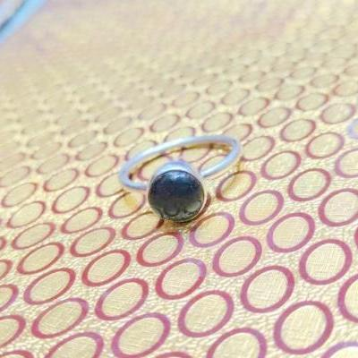 Black Onyx Ring, Silver Ring, Handmade Jewelry, Sterling Silver Ring, Zodiac Jewelry, Midi Ring, Promise Ring, Black Stone Jewelry, Gemstone Jewelry, Gift For Her, women's Ring, Women's Fashion, Women's Style, Unisex Jewelry