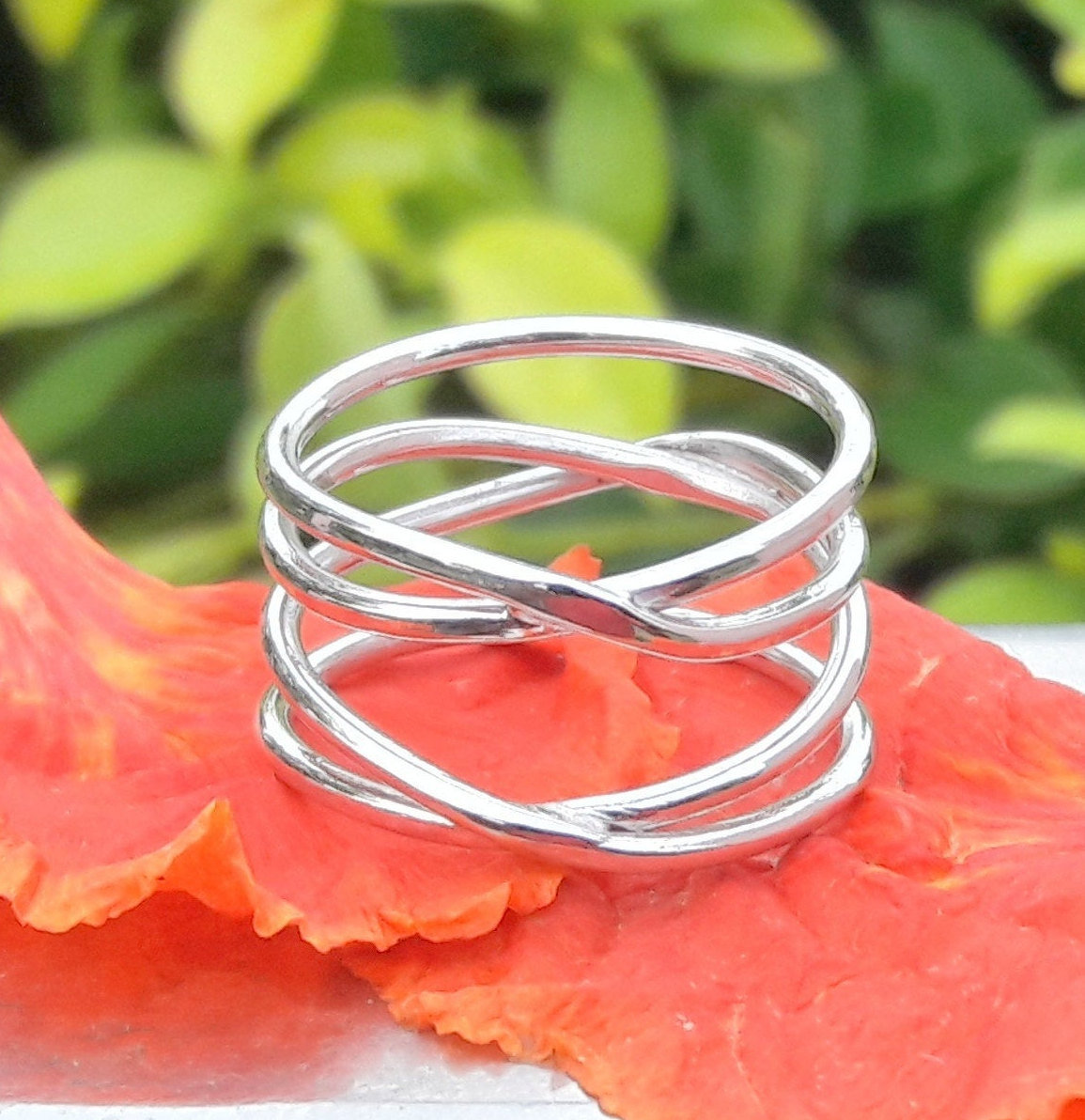 Cage Style Ring, Boho Jewelry, Handmade Jewelry, Engagement Jewelry, Spiral Ring, Promise Ring, Christmas Gift, Gift For Her, Halloween Gift