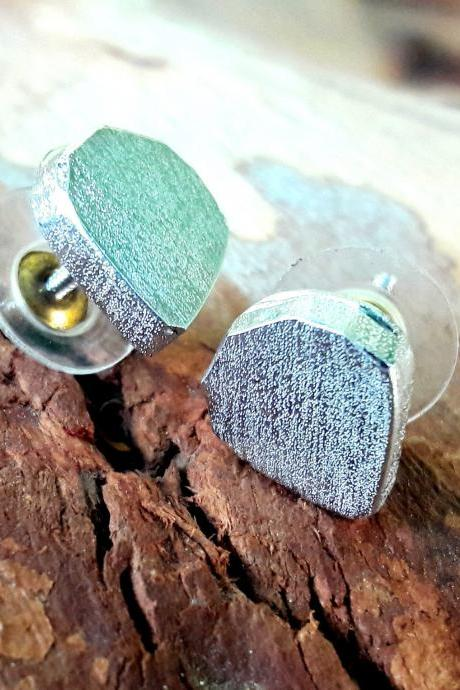 Faceted Pear Studs, Pear Shape Earrings, Sterling Silver Earrings, Handmade Earring, Earring Studs, Stylish Studs, Christmas Gift, Gift For Her