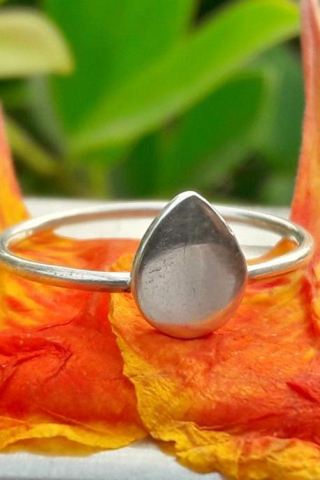 Marquis Ring, Rain Drop Ring, 925 Sterling Silver Ring, Silver Drop Ring, Tear Drop Ring, Friendship Ring, Pear Ring, Ring For Her, Toe Wear