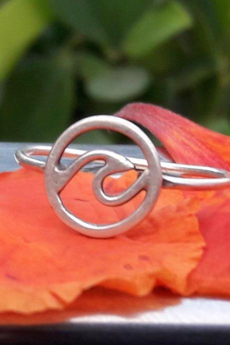Surfer Ring, Wave Ring, 925 Sterling Silver Wave Ring, Wave Wire Ring, Beach Jewelry, Island Ring, Unisex Ring, Riders Jewelry, Beach Jewelry