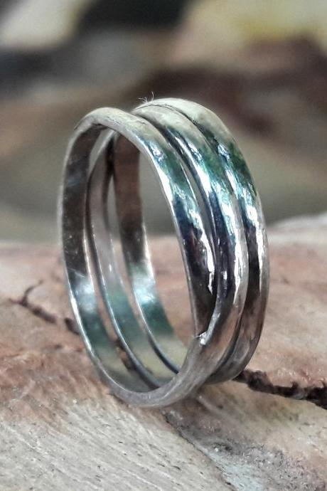 Gyrate Ring, 92.5% Sterling Silver Ring, Handmade Body, Twisted Ring, Wedding & Anniversary Gift For Her